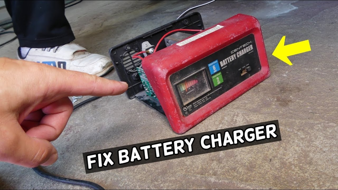 harbor freight tools battery charger not working. how to repair ... cen tech fuse panel diagram  youtube