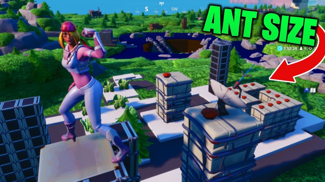 Fortnite Map Shrunk to ANT SIZE! (Creative - Compact Combat w/ Code)