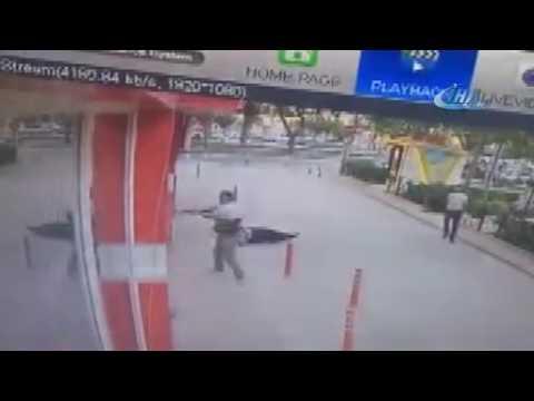 Gemlik adliyesi polis vurulma anı