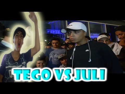 TEGO vs JULI   4tos EL PINTAGONO SUPREMACIAvideo reaccion