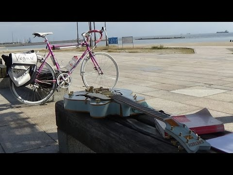 Rode to Suma Beach Kobe today, Road Trip with Shi-Nu