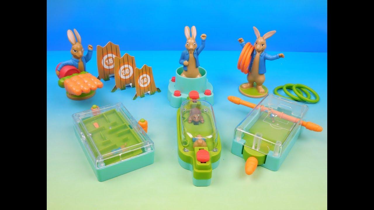 2018 Peter Rabbit Set Of 6 Mcdonalds Happy Meal Kids Movie Toys