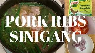 How to cook pork ribs sinigang