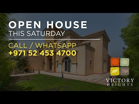 Open House This Saturday - Victory Heights at Dubai Sports City