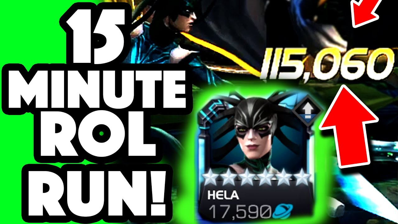 115K Medium Attacks?? 6 Star R3 HELA Embarrasses RoL