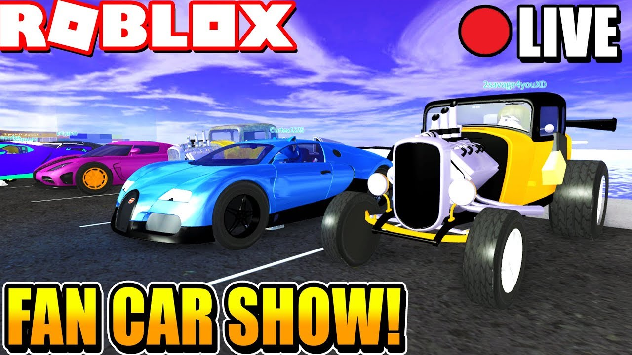 FACECAM Vehicle Simulator Weekly Car Show ROBUX PRIZES Week - Weekly car shows near me