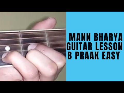 Mann Bharrya(Jaani/B-Praak) Guitar Cover Complete Lesson