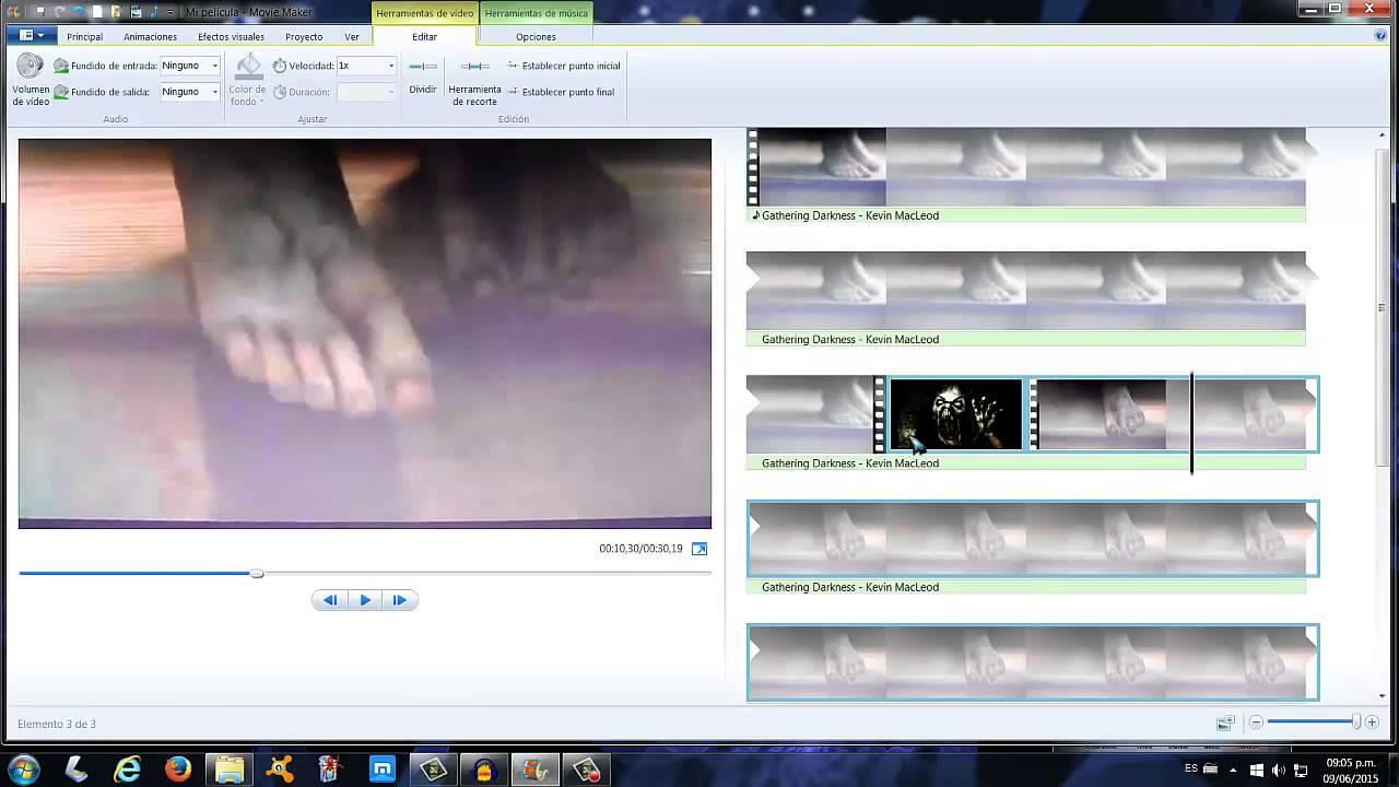 Movie maker 2015 tutorial el efecto terror en un video - Efectos opticos de miedo ...