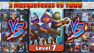 3 Mosqueteras VS TODAS Las Cartas de Clash Royale | 1 Vs 1