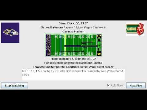 Week 6: Baltimore Ravens (2-3) @ Las Vegas Casinos (4-1)