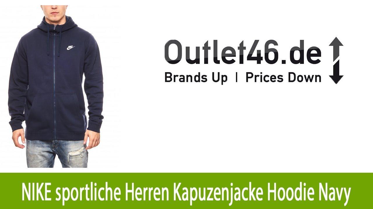 04a570ca77b53 NEU: NIKE sportliche Herren Kapuzenjacke Hoodie Navy l Outlet46.de ...