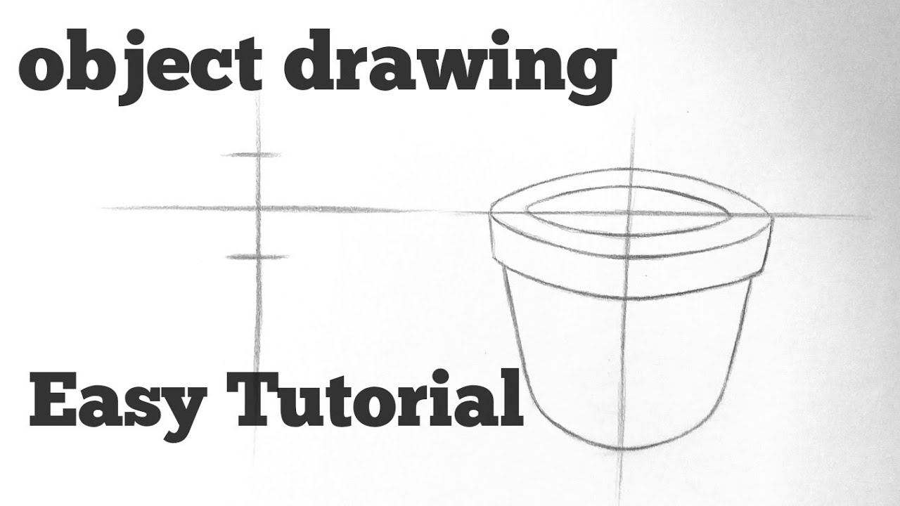 How to draw object drawing tutorial with pencil Easy basic drawing lessons for beginners