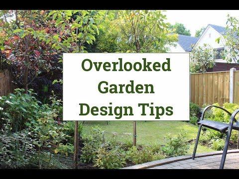 Overlooked back garden design tips
