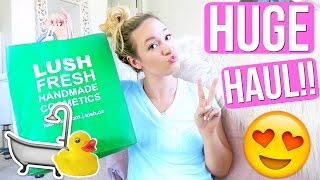 HUGE LUSH HAUL + GET READY WITH ME!!!