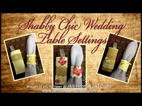 Shabby, Chic, Vintage Table Settings Tutorial by Valeri