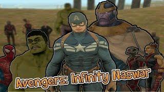 Avengers: Infinity Naswar In Pakistan || Ft. ComicsByMajid as Thanos