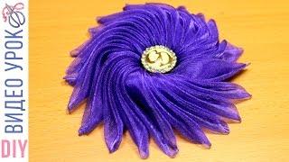 DIY: Bow Medusa for hair / Бант Медуза своими руками из органзы