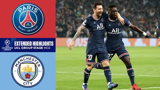 PSG vs. Man. City: Extended Highlights | UCL Group Stage MD 2 | CBS Sports Golazo