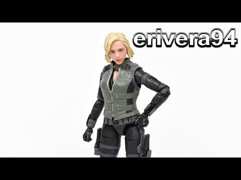 Marvel Legends BLACK WIDOW Cull Obsidian BAF Avengers Infinity War Movie Figure Toy Review