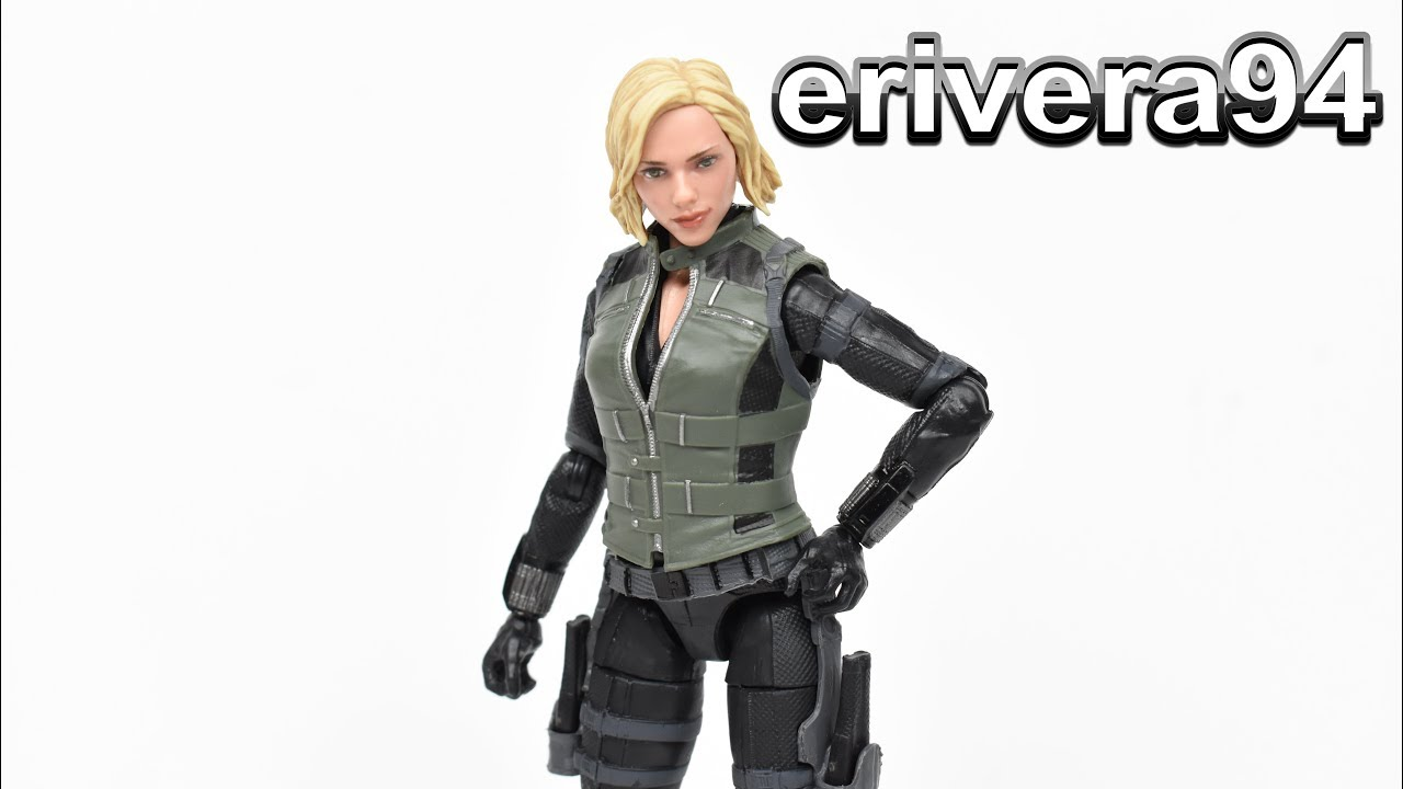 Marvel Legends Black Widow Cull Obsidian Baf Avengers Infinity War Movie Figure Toy Review