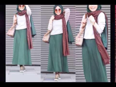 e920f0cd69 Maxi Skirt Lookbook Hijab Fashion Style ! - YouTube