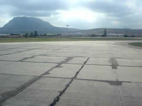 Take off Mineralnye Vody (MRV - URMM) TU 154M Aeroflot