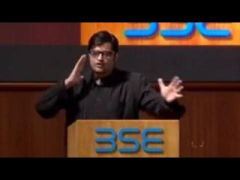 Arnab Goswamis Amazing Speech At Bombay Stock Exchange