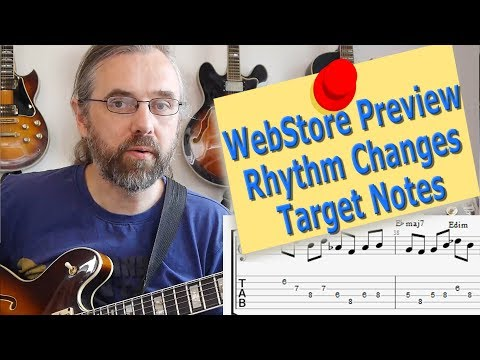 WebStore Preview - Rhythm Changes - Target Notes - Jazz guitar