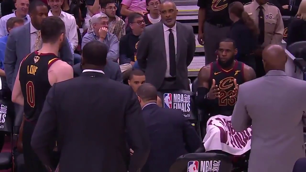 6b40bbcd15a3 Lebron visibly upset on the Cavs bench - YouTube