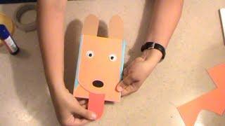 Детская поделка  Открытка забавная собачка Мастер класс рукоделие с детьми