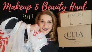 MAKEUP AND BEAUTY HAUL! PART 2 - Target & Walmart! Over40 Beauty