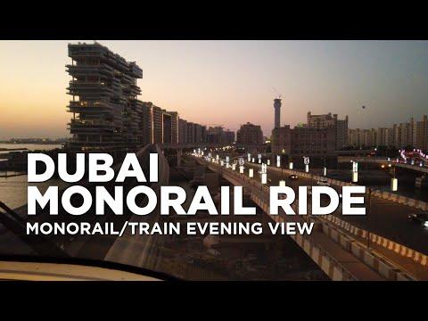 Dubai Monorail Ride   Evening View of Dubai Palm Jumeirah   Palm Island – Dubai 4k