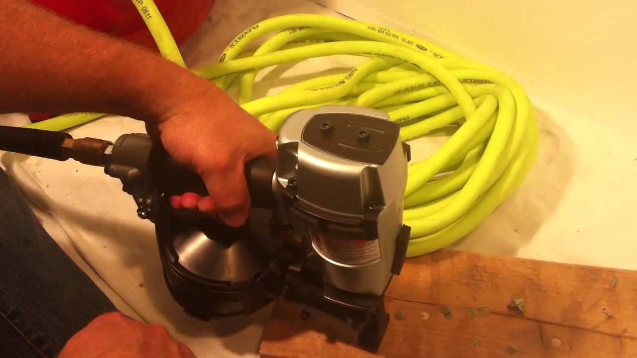 Hitachi Roofing Nailer 45ab2 Discussion Youtube