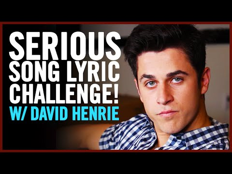 David Henrie plays the Serious Song Lyric Challenge!