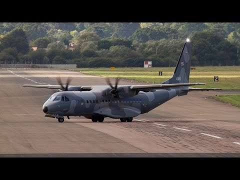Polish Air Force - CASA C-295 take off RAF Northolt - London