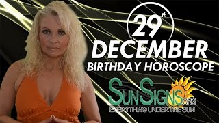 Birthday December 29th Horoscope Personality Zodiac Sign Capricorn Astrology