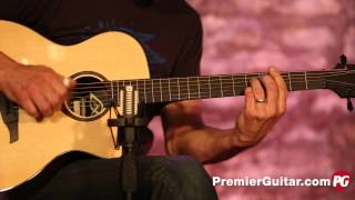 Review Demo Lag Guitars Tramontane Tse701ace Youtube