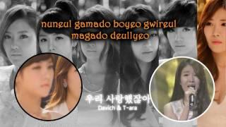 We Were In Love - T-ara & Davichi (Karaoke/Instrumental)