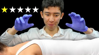 ASMR worst reviewed chiropractor (sorry)