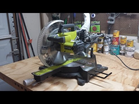 "Ryobi 12"" Sliding Compound Miter Saw TSS120L Review"
