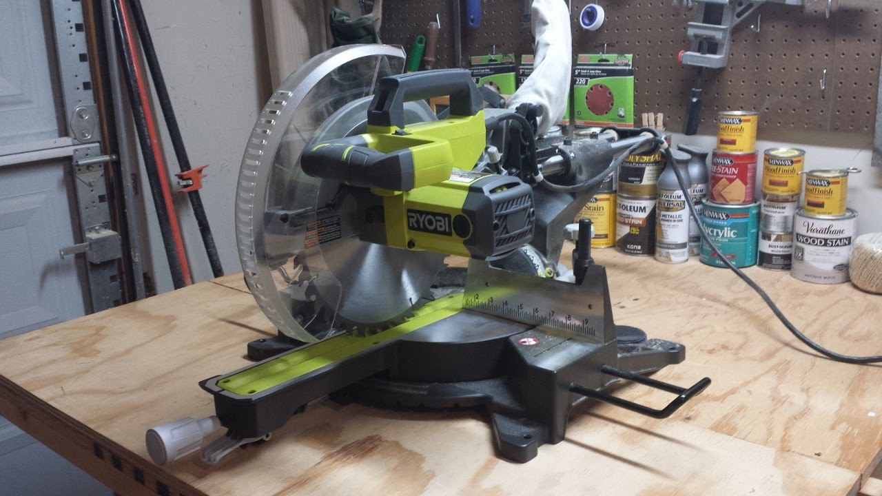 Ryobi 12 Quot Sliding Compound Miter Saw Tss120l Review Youtube