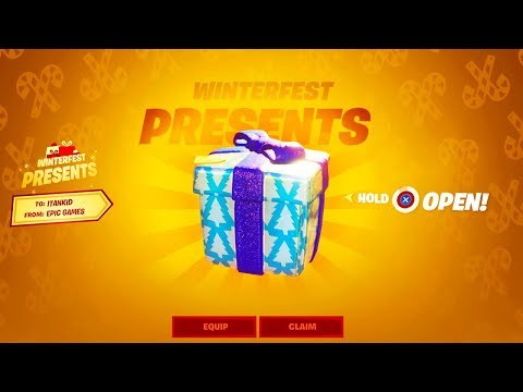 *FREE* PRESENT OPENING IN FORTNITE! (New Winterfest Presents)