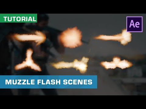 How To Composite Muzzle Flashes And More | Gun VFX | After Effects Tutorial
