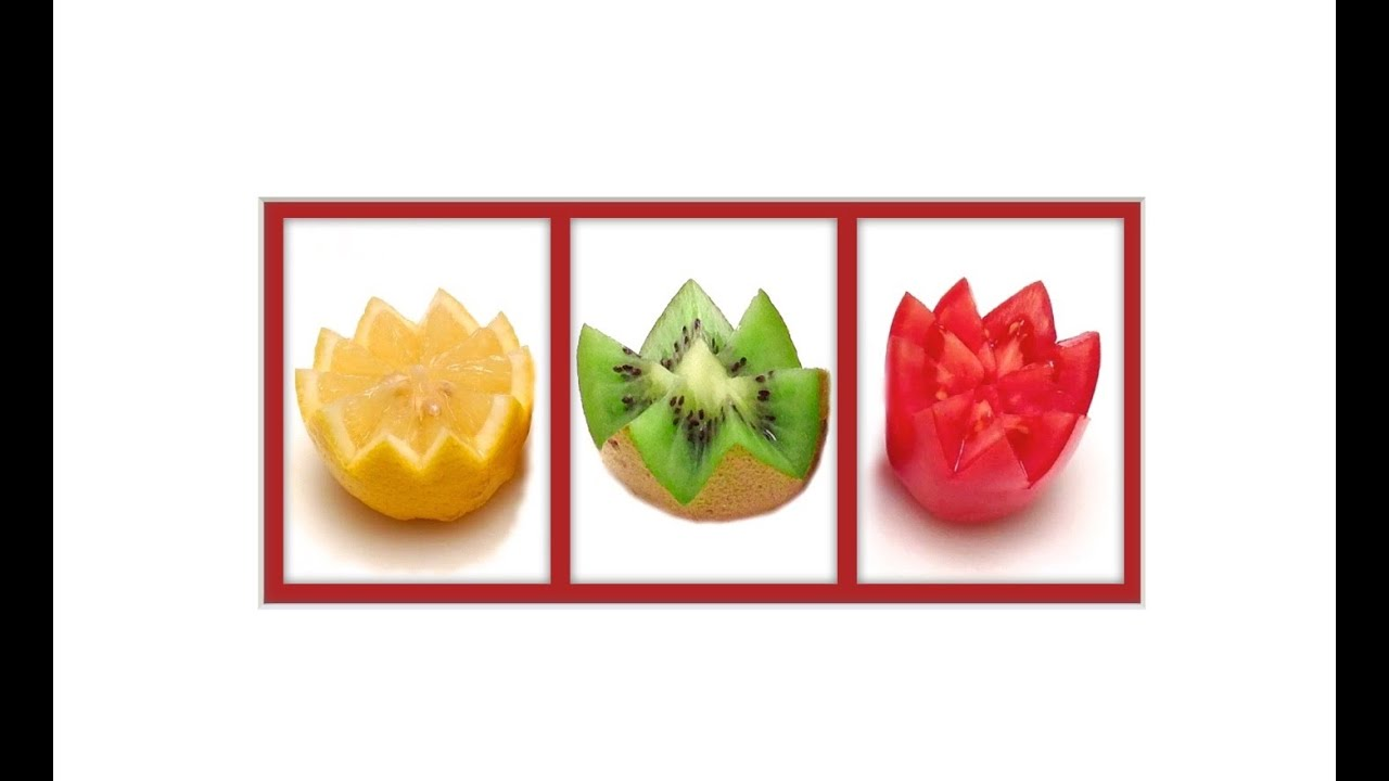 Comment couper un citron une tomate et un kiwi en dents de loup historier hd youtube - Comment couper une tomate en cube ...