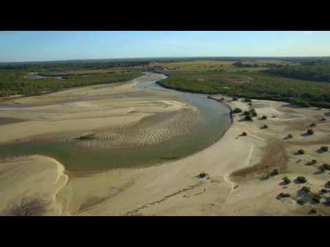 Aerial footage of Coonar Beach, Bundaberg, Queensland Australia.