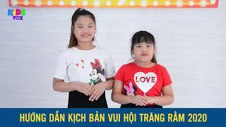 Tự học làm MC nhí |Phần 3: Kịch bản trung thu | MC nhí Happykids |MC Quỳnh Trang, Bảo An & Trúc Linh
