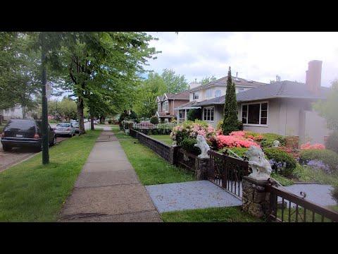 VANCOUVER BC Canada. Middle Class Area. Slocan Street To Nanaimo St Via E23rd Avenue.