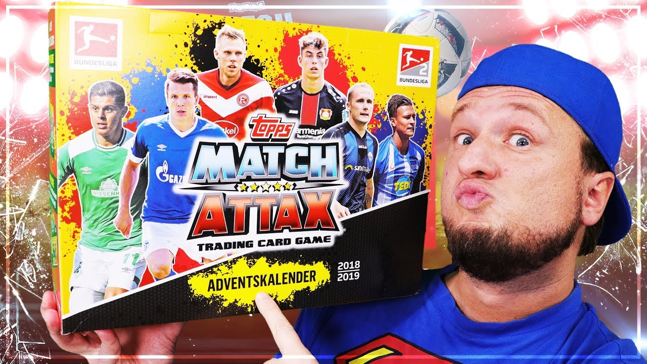 Match Attax Weihnachtskalender.Match Attax Adventskalender 2018 19 Unboxing