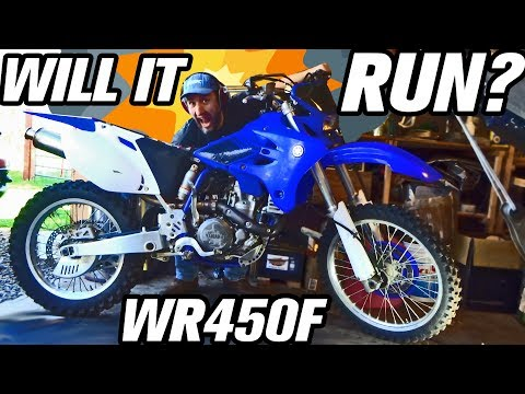 WILL IT RUN? WR450F KICK START REPAIR CARB CLEAN AND TUNE UP