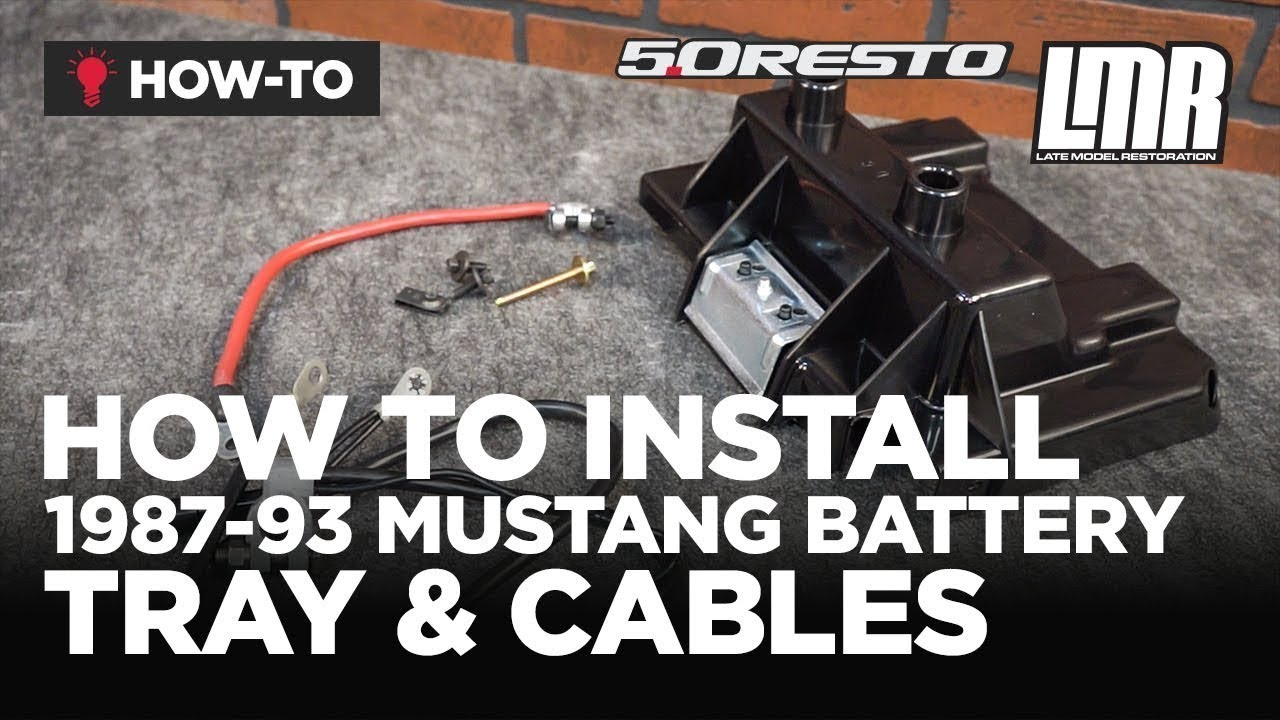 small resolution of 1987 1993 mustang 5 0 resto battery tray cable kit install review